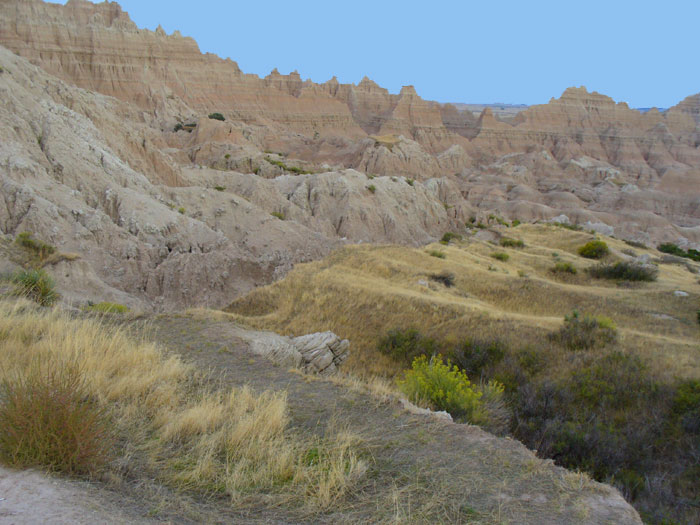 View of the Badland Wall meeting the Lower Plains