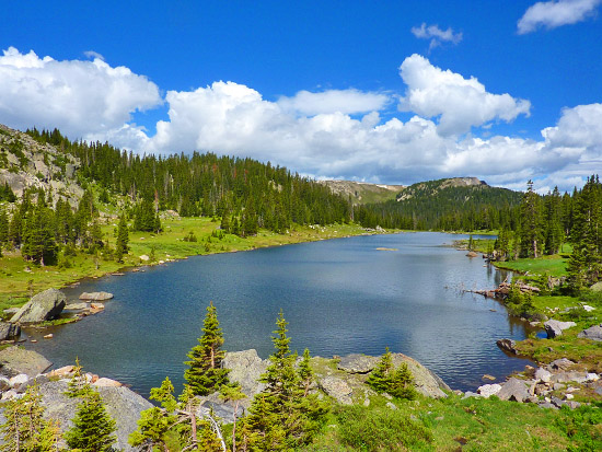Timber Lake (11,085') on the west side of Rocky Mountain National Park